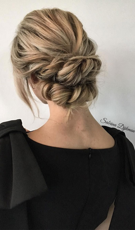 Trendiest Updos For Medium Length Hair To Inspire New Looks : Pretty twisted updo