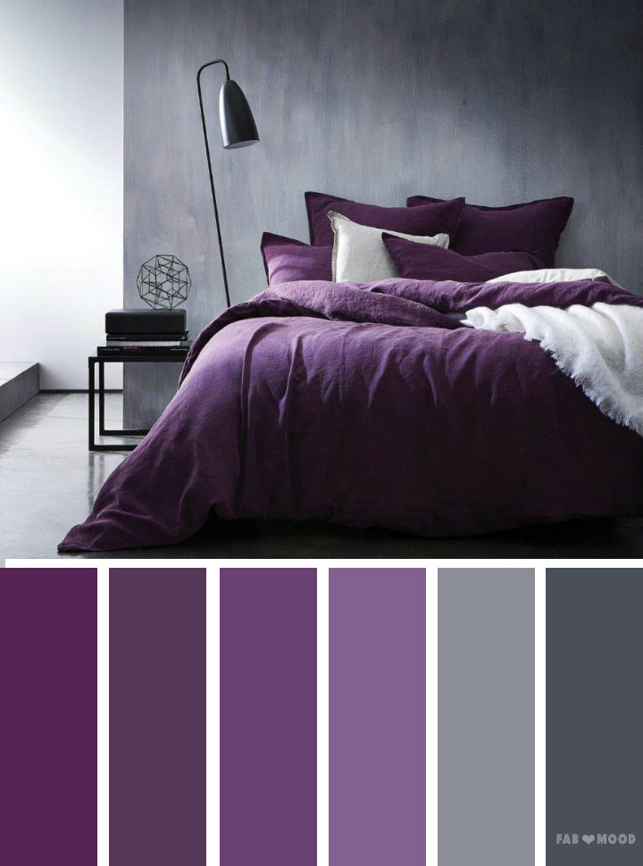 Grey and purple color inspiration