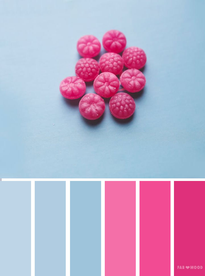 Blue and pink color scheme - Fabmood | Wedding Colors ...