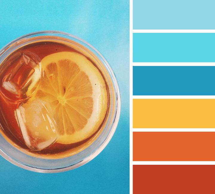Orange And Teal Color Scheme