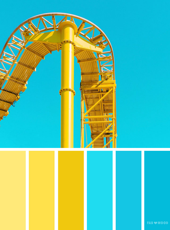 Blue and yellow color scheme