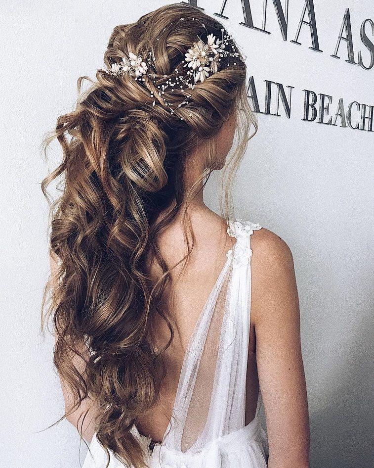 half up half down hairstyle ,swept back bridal hairstyle ,updo hairstyles ,wedding hairstyles #weddinghair #hairstyles #updo #hairstyleideas #hair #updo