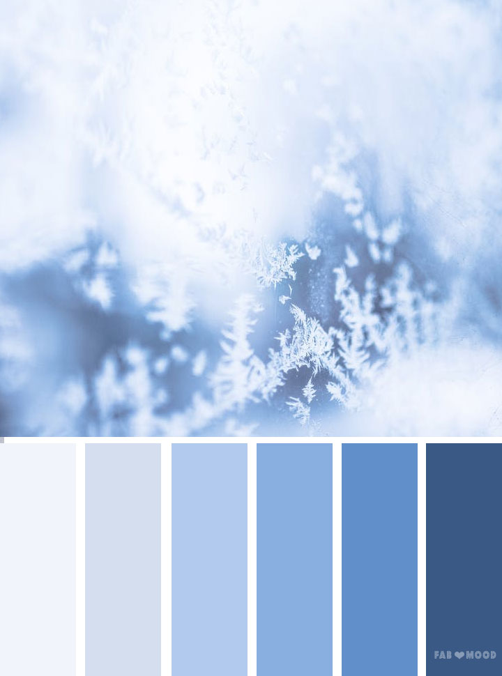 Ice blue color palette