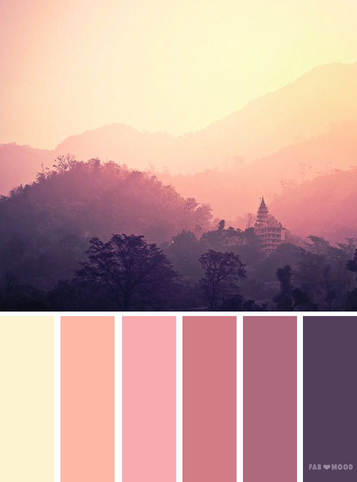 Mauve sky inspired color palette
