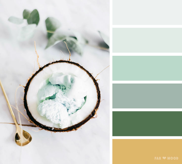 Mint green gold color scheme