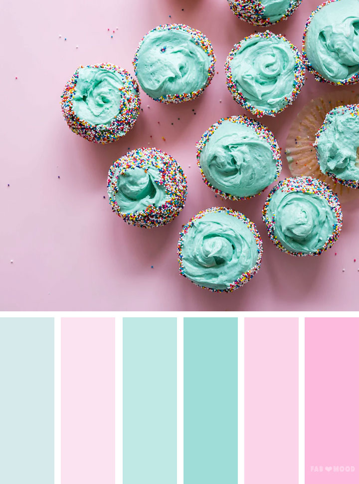 Mint and pink color scheme #color #weddingcolor #pink #mint