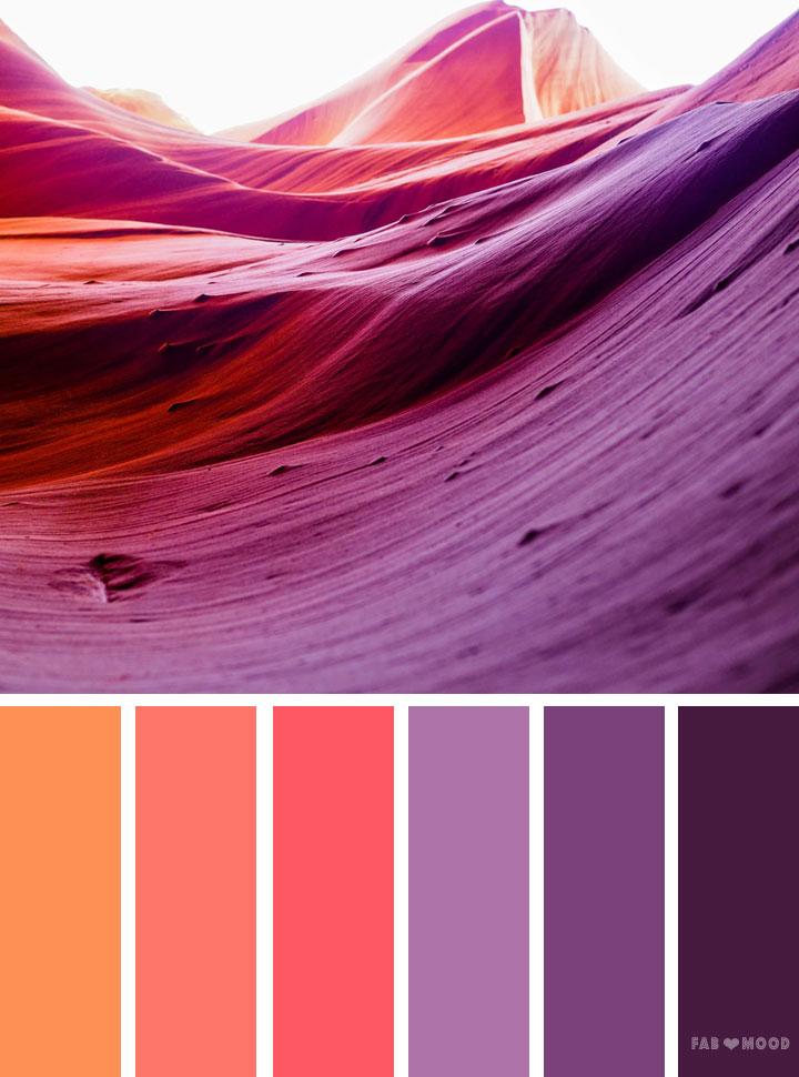 Orange And Purple Color Scheme Peach Palette