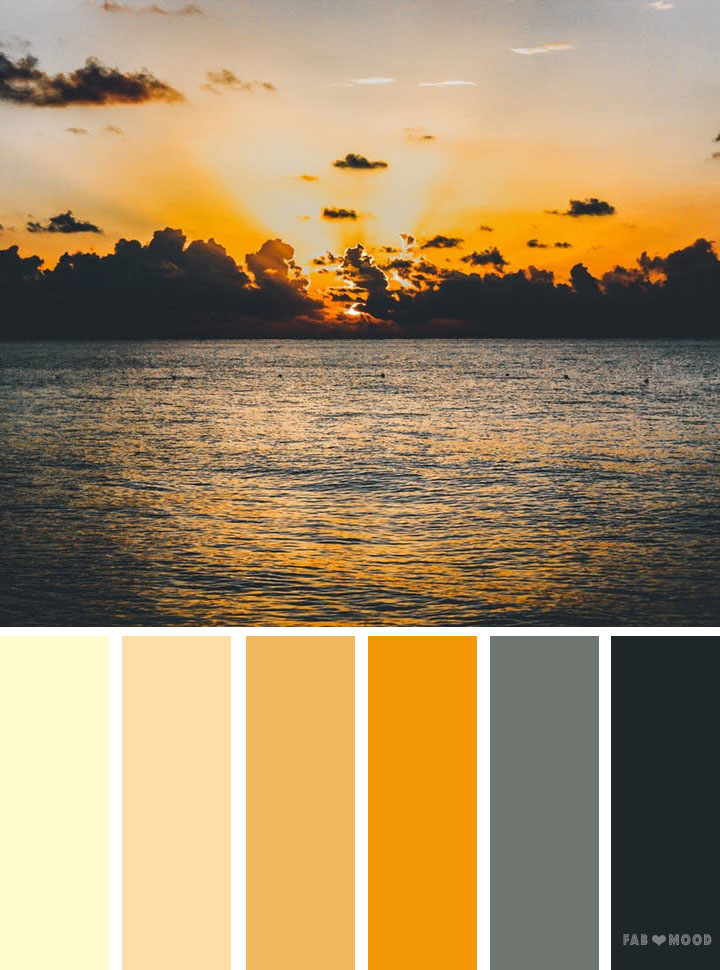 Orange sky inspired color palette