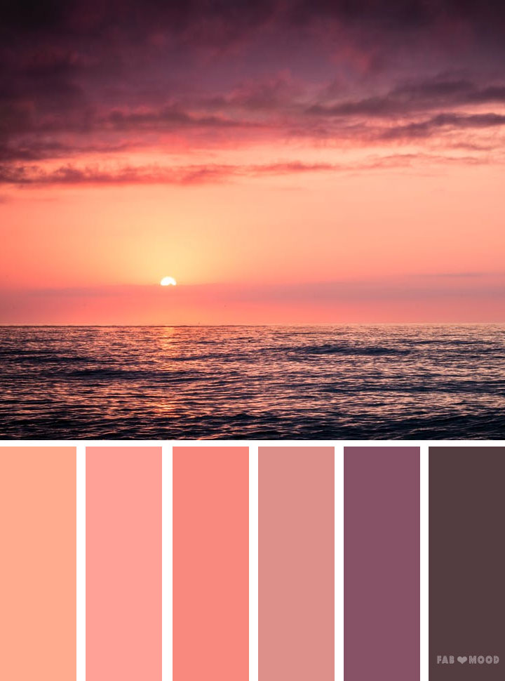 Orange and peach sunset inspired color palette