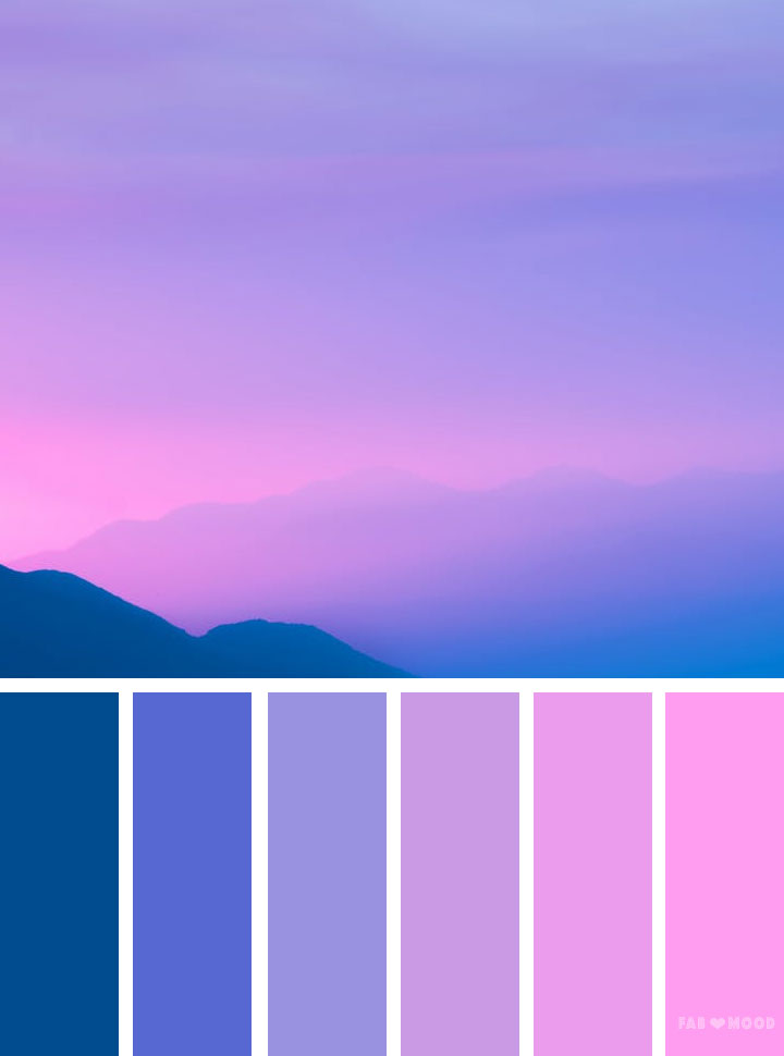 Bluebell Pink And Blue Sky Inspired Color Palette