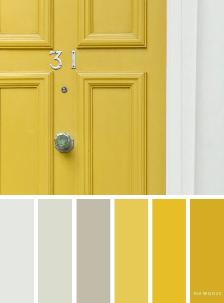 Silver and yellow color scheme