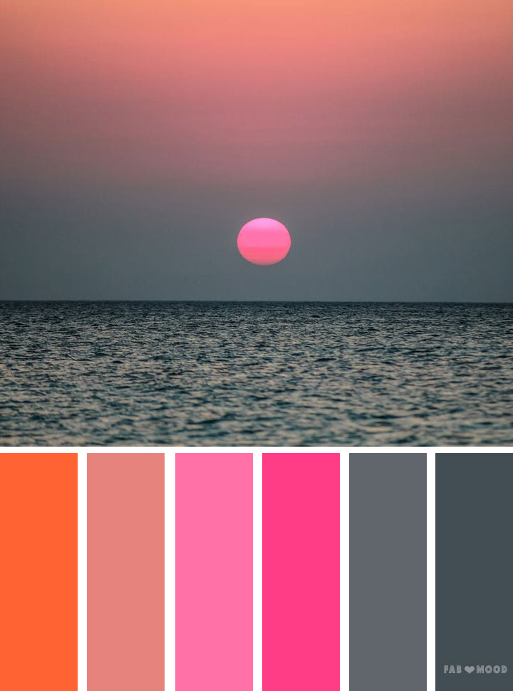 Grey Pink And Orange Color Scheme Wedding Inspiration Colours