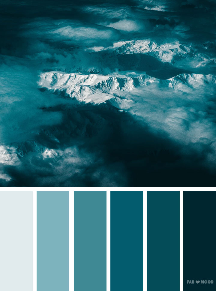 Peacock and teal color palette #color #inspiraiton #pantone #colorscheme