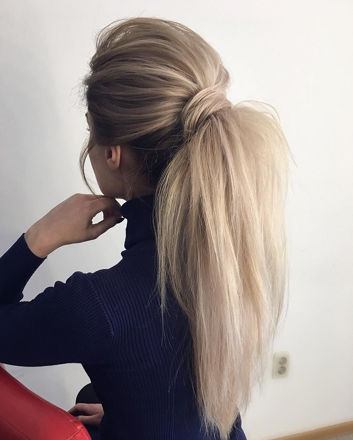 swept back and puffy ponytail hairstyles #weddinghair #ponytails #wedding #hairstyles #ponytail