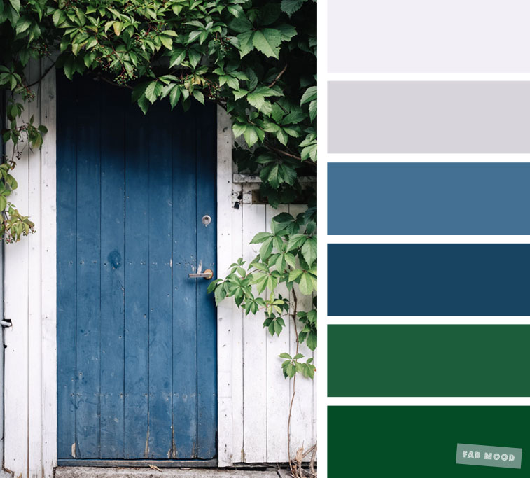 Blue Grey And Green Color Combination