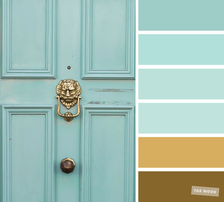 Color Inspiration : Gold and Mint Color Inspiration #color #colorpalette