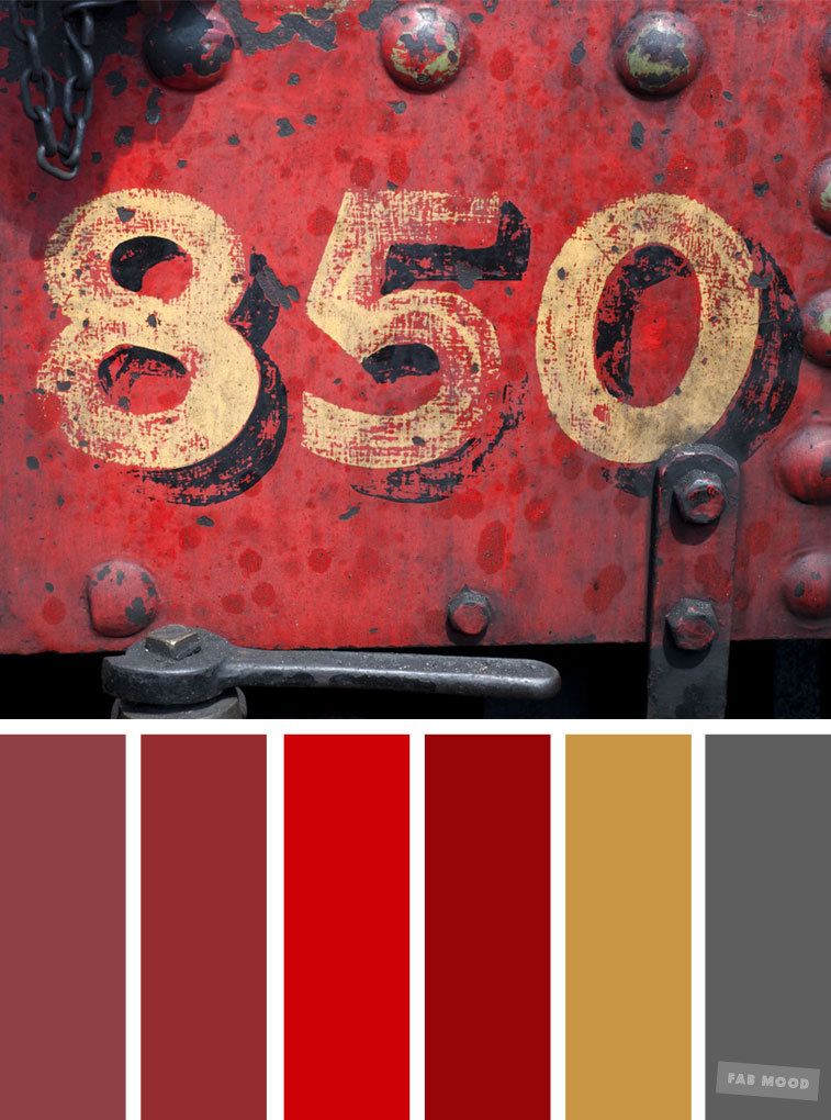 Red Gold And Grey Color Palette