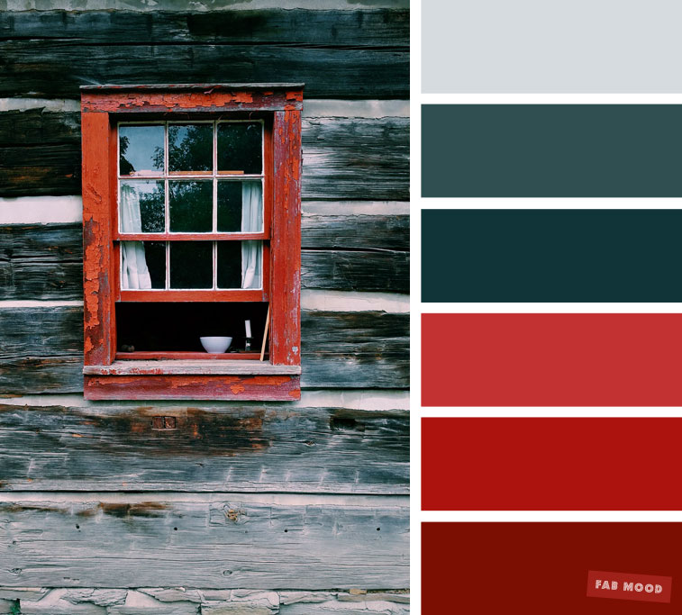 Red and green grey color scheme