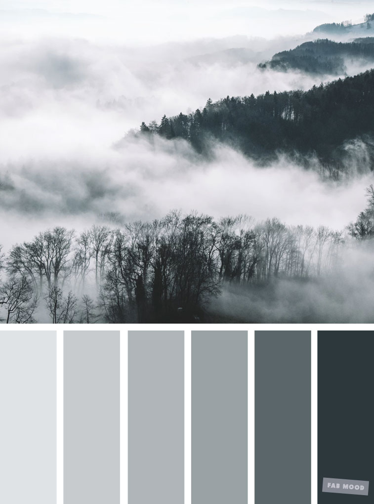 Smokey grey color palette