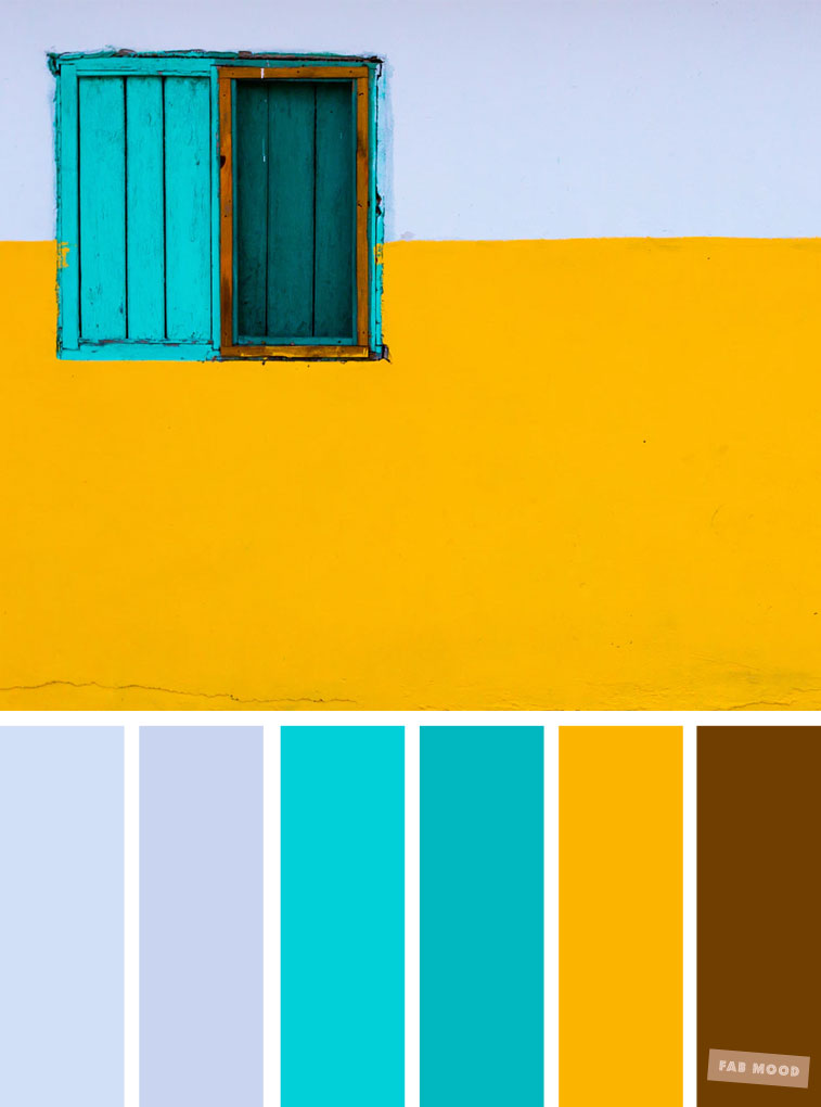 Color inspiration : light blue + turquoise + yellow color ...