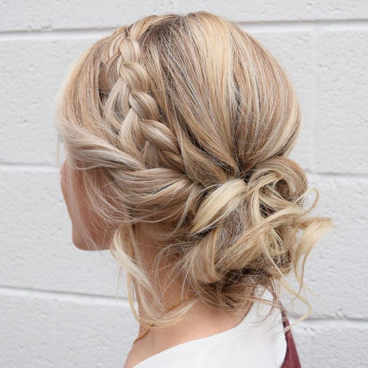 Braid Crown Updo Wedding Hairstyles Messy Updos Weddinghair
