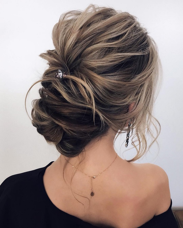 Textured Updo Wedding Hairstyles Hairstyle Ideas Messy Updos