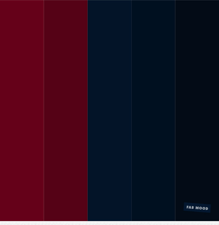 Burgundy and Navy Blue Color Palette