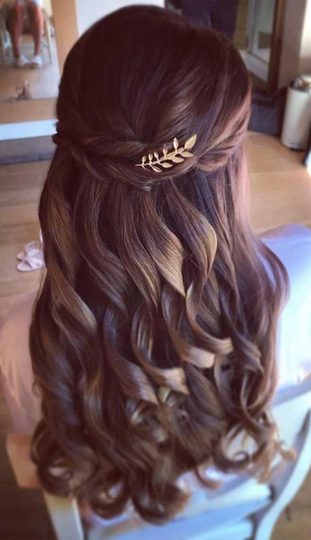 44 Gorgeous Half Up Half Down Hairstyles , braid half up half down hairstyles , partial updo hairstyle ,bridal hair ,boho hairstyle #hair #hairstyles #braids #halfuphalfdown #braidhair