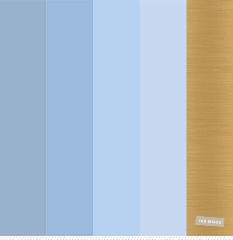 Light blue and gold color palette