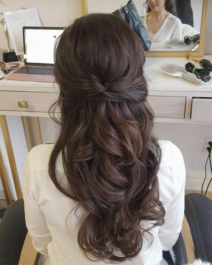 10 Glamorous Half Up Half Down Wedding Hairstyles From: 44 Gorgeous Half Up Half Down Hairstyles