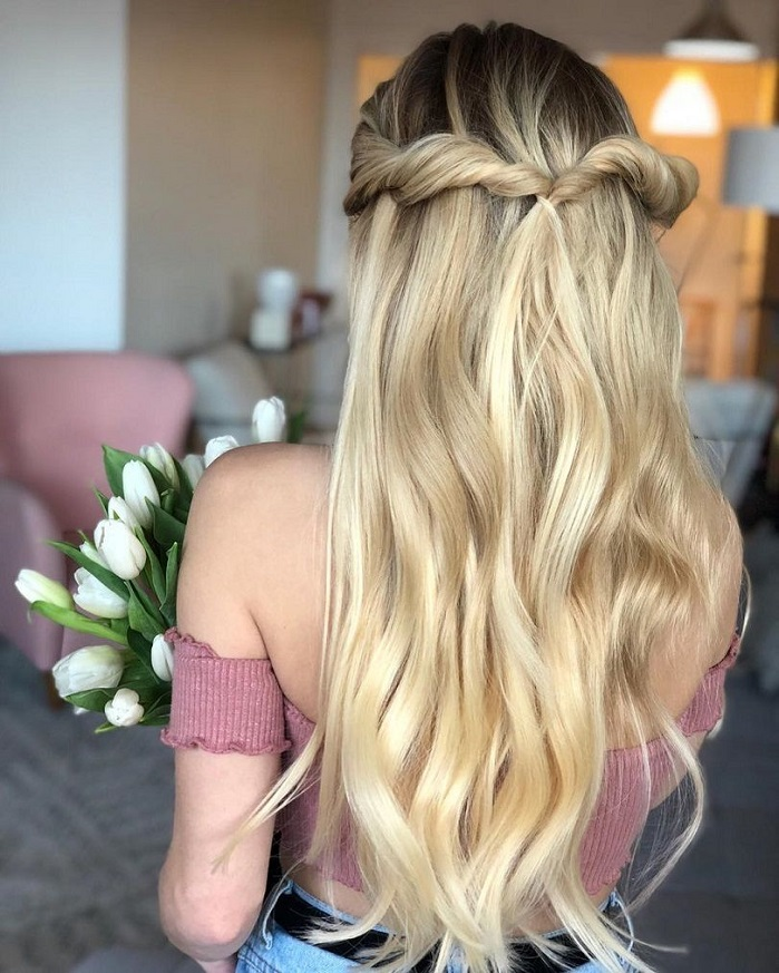 44 Gorgeous Half Up Half Down Hairstyles Fabmood Wedding Colors