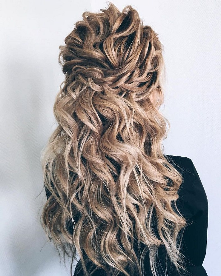 44 Gorgeous Half up half down hairstyles