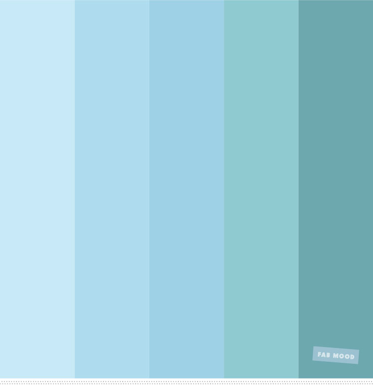 Color Inspiration : Blue , Teal And Sea Green Color Palette