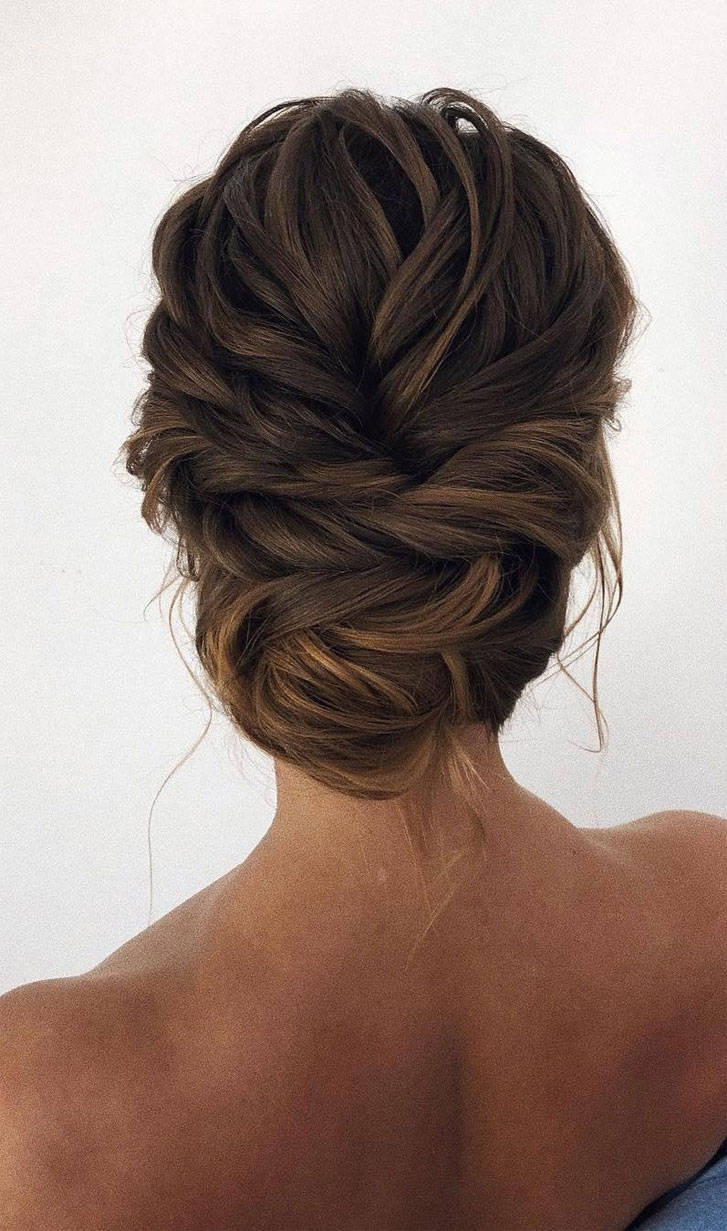 Updo Braided Updo Hairstyle Simple Updo Swept Back Bridal