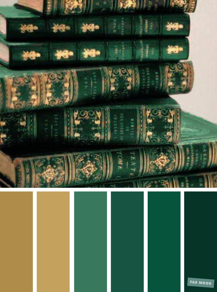 Emerald green and gold color scheme ,elegant color palette #color #colorscheme #colorpalette