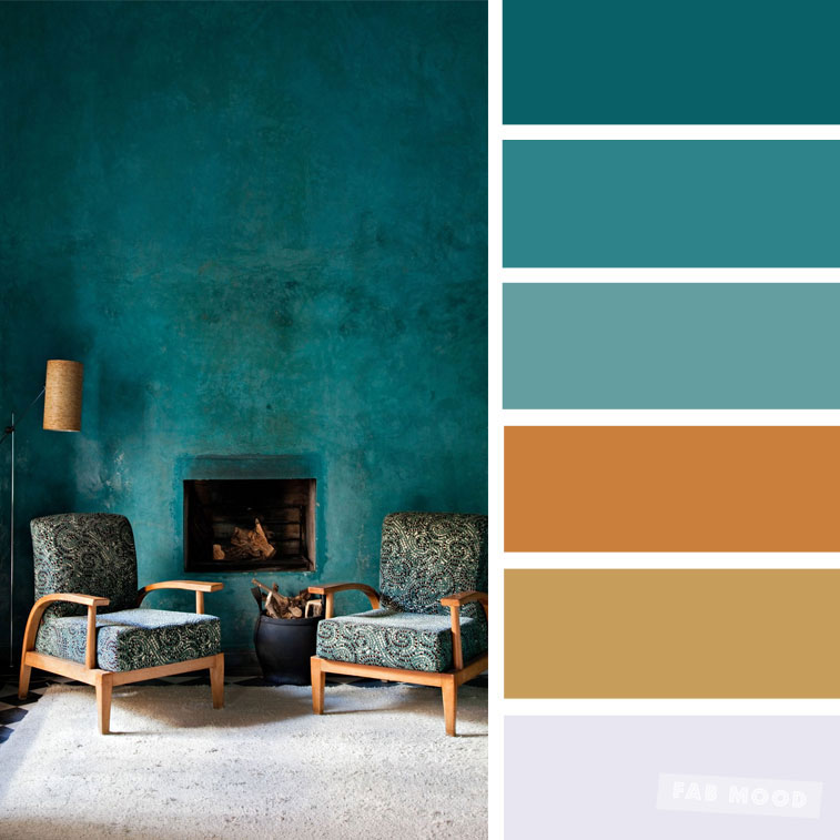The Best Living Room Color Schemes – Green & terracotta