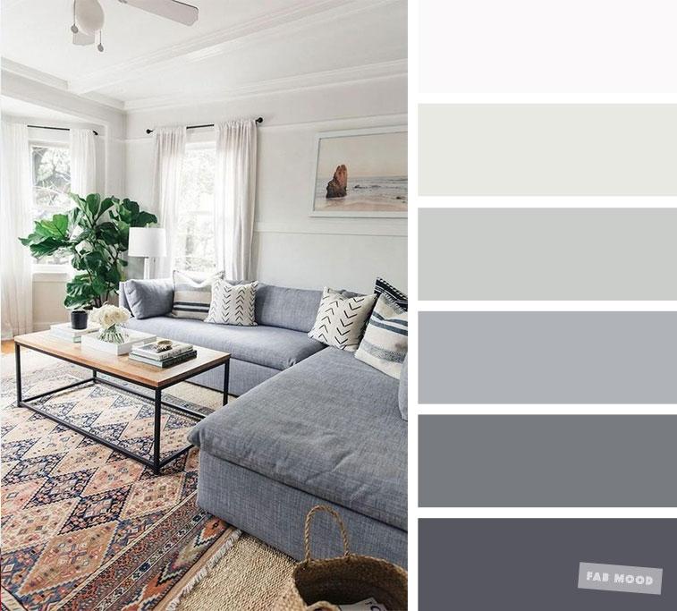 The best living room color schemes - Grey Palette - Fabmood ...