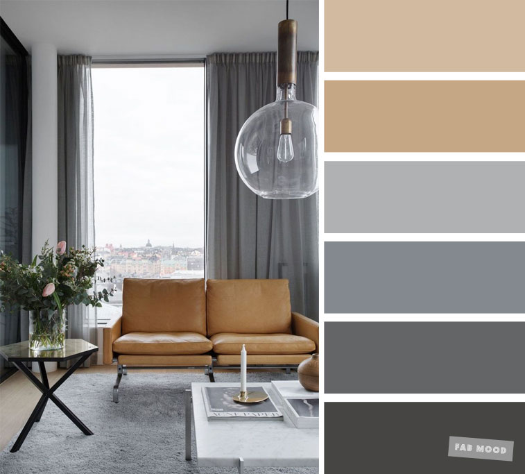 The best living room color schemes - Neutral and grey color palette ...