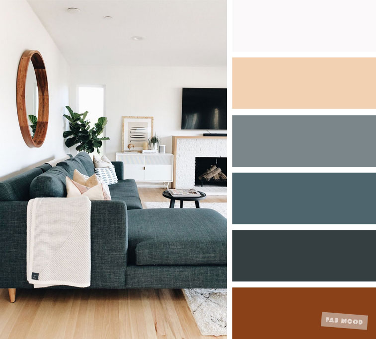 The best living room color schemes – Dark Green Grey & Taupe Palette