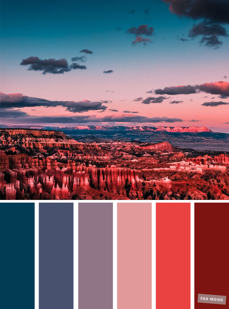 Teal indigo sky inspired color palette
