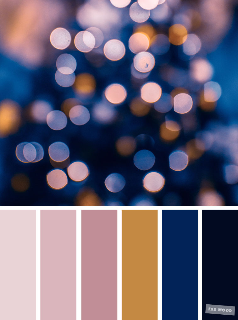 33 Pretty Winter Color Schemes { Mauve + Dark Blue }