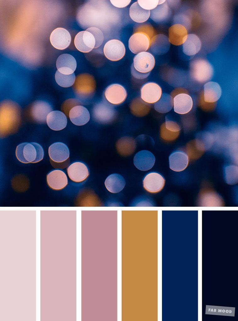 33 Pretty Winter Color Schemes { Mauve + Dark Blue }