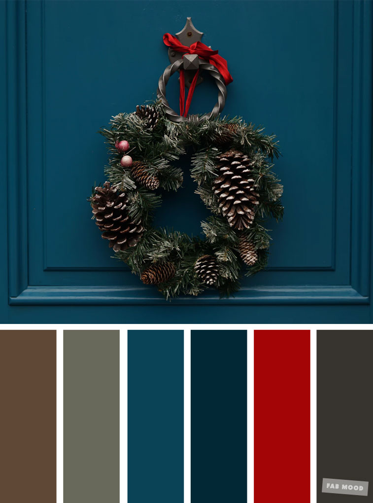 33 Pretty Winter Color Schemes { Red + Dark Blue }