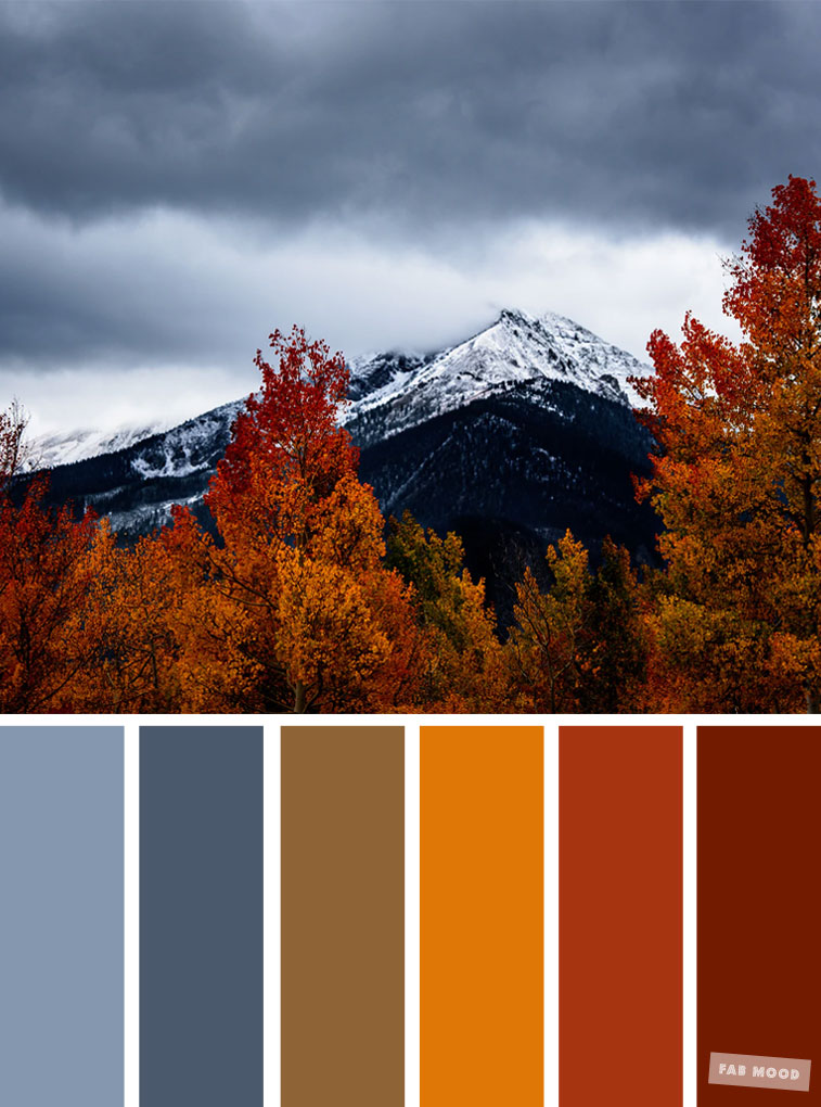 59 Pretty Autumn Color Schemes { Blue and Yellow }, color palette #color #colorscheme #colorpalette #fall #autumncolour #autumn #fallcolor