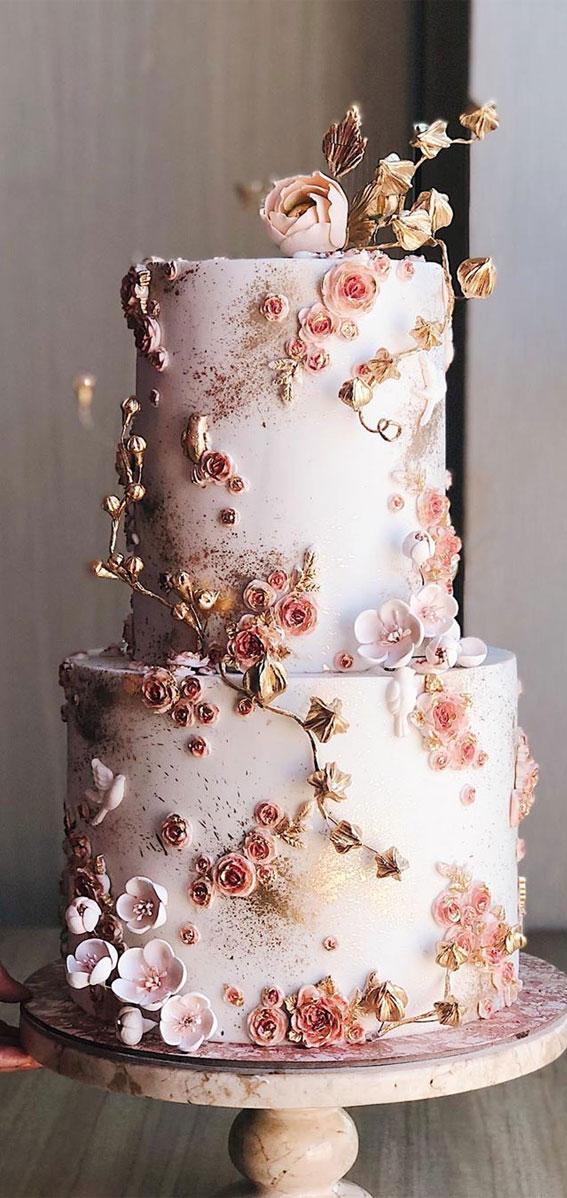 The 20 Most Beautiful Wedding Cakes | Simple wedding cake
