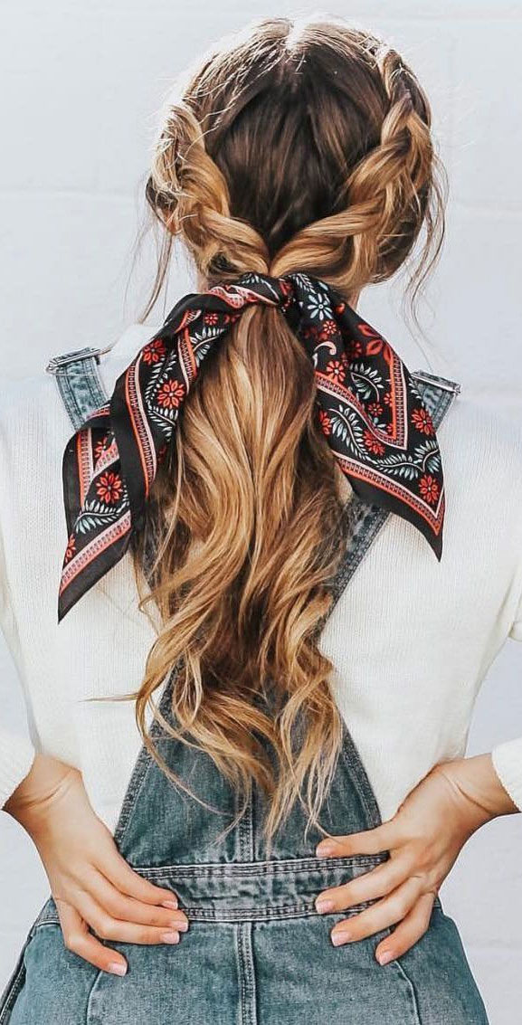 21 Pretty Ways To Wear A Scarf In Your Hair - Double Dutch ...