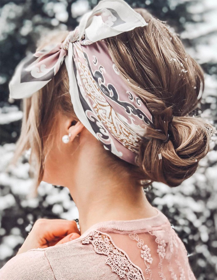 21 Pretty Ways To Wear A Scarf In Your Hair   Fabmood ...