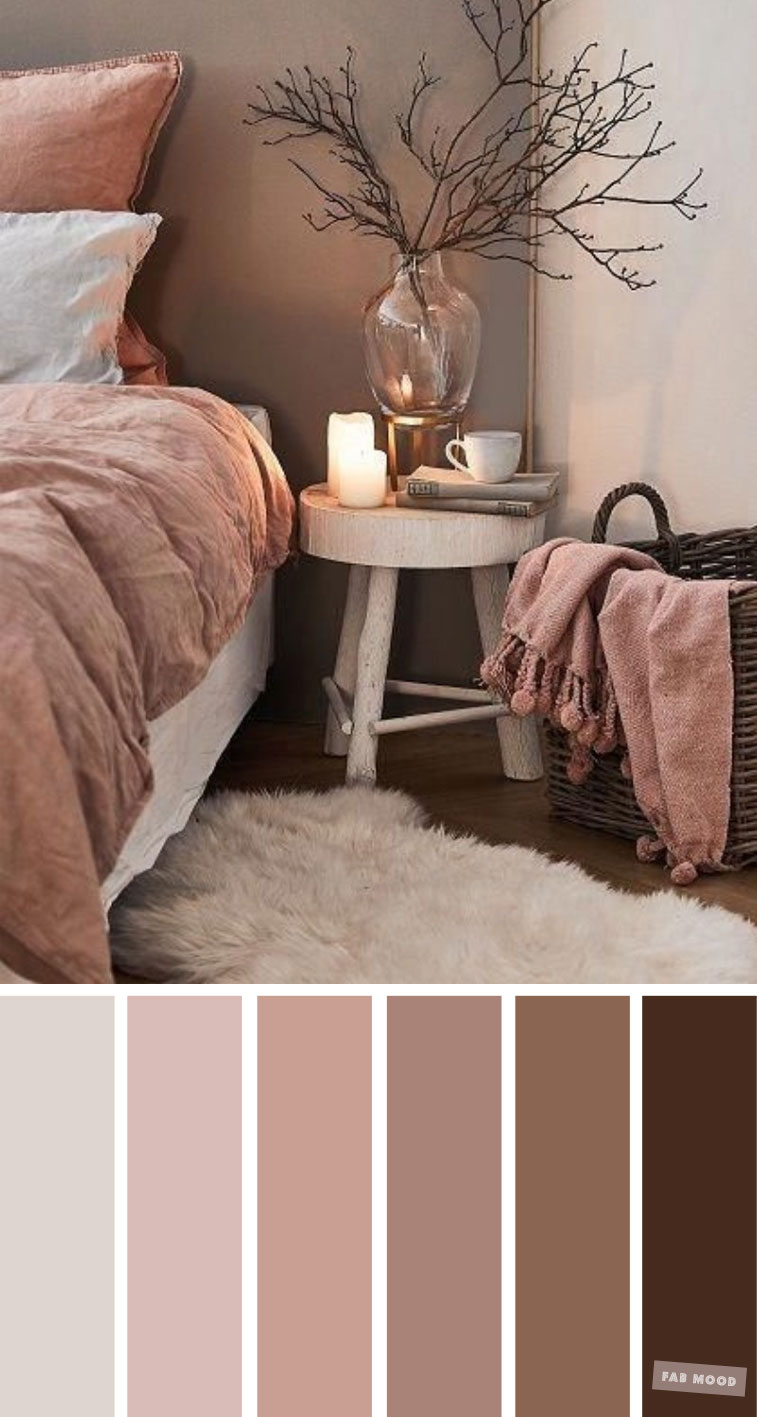 Earth Tone Colors For Bedroom, mauve color scheme for bedroom, color palette, mauve color palette