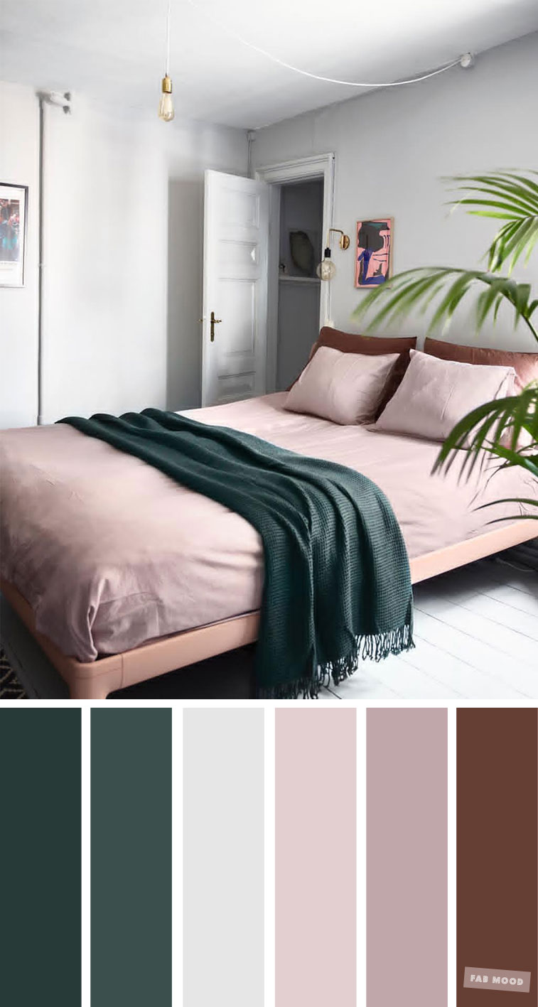 Mauve , Grey and Dark Green for Bedroom, Mauve and grey color scheme , color palette #color #pantone #mauve