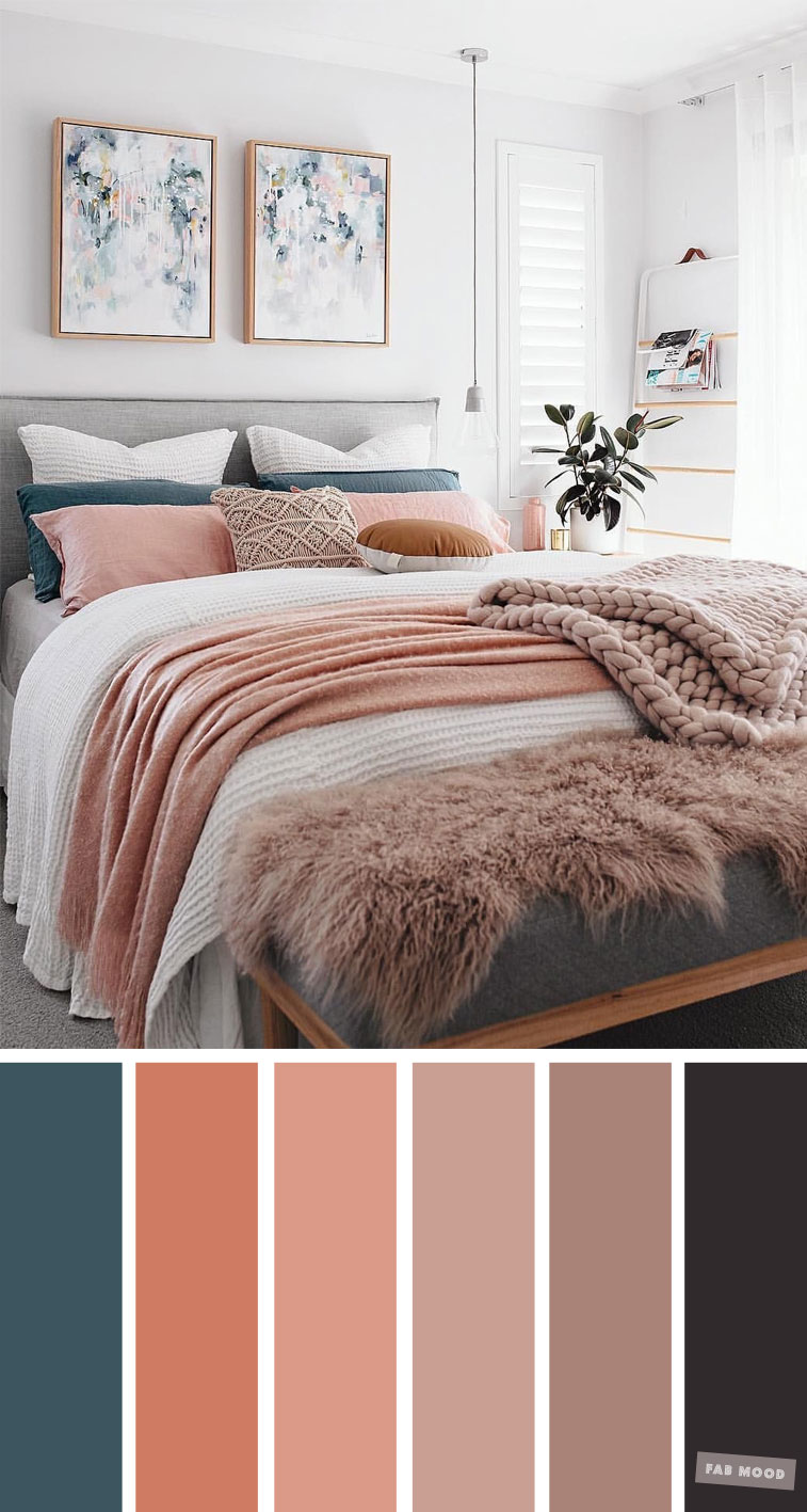 Mauve, Peach and Teal Colour Scheme For Bedroom, mauve and peach color scheme, color palette #color #pantone